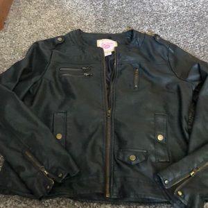 Fo-leather jacket
